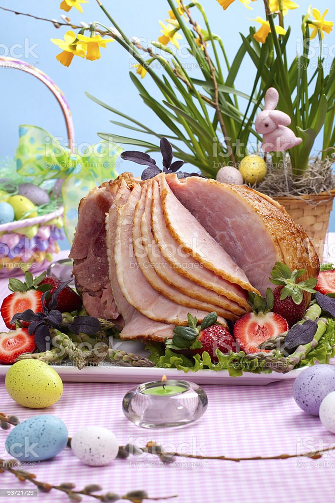 Easter ham stock photo