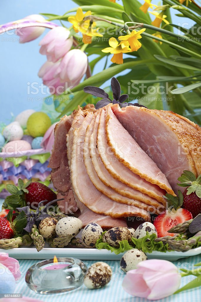 Easter ham royalty-free stock photo