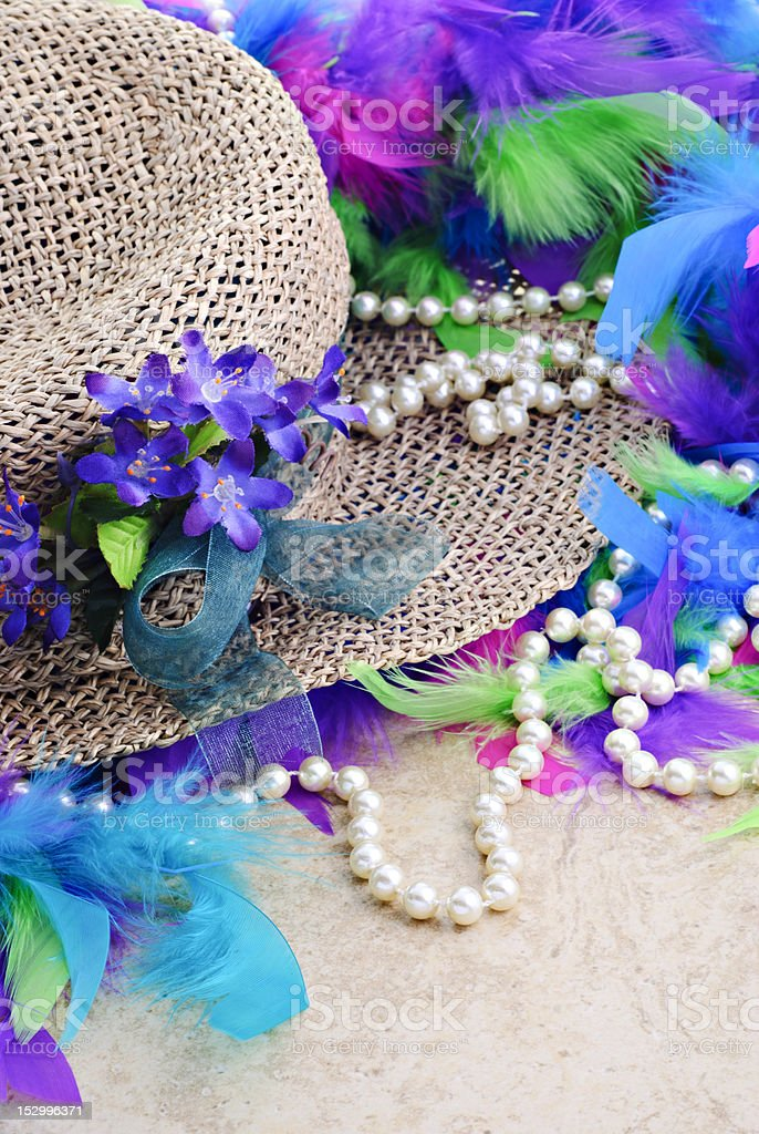 Easter Hat With Pearls royalty-free stock photo