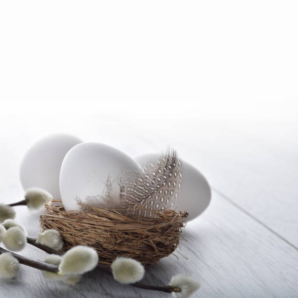 Easter holiday concept background stock photo
