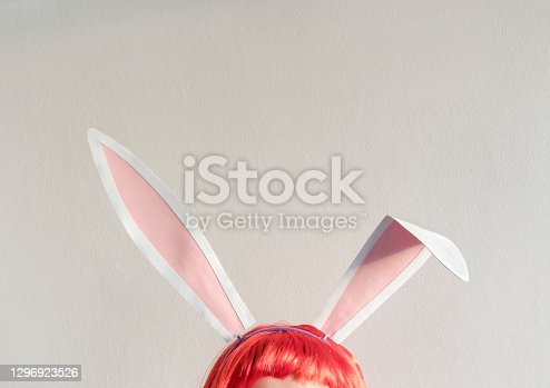 istock Easter holiday concept with copy space 1296923526