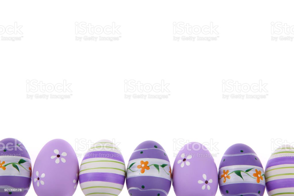 Easter holidays have very characteristic accents which are Easter eggs and expressive and joyful colors. stock photo