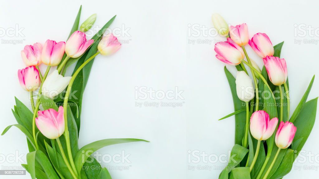 Easter homemade decorated wreath decoration stock photo