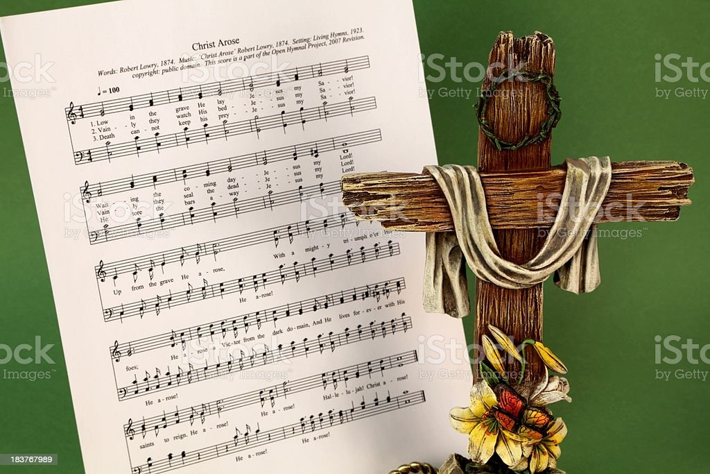 Easter Hymn And Cross Stock Photo & More Pictures of Arts Culture