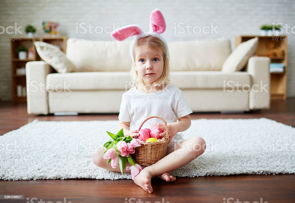Easter innocence stock photo