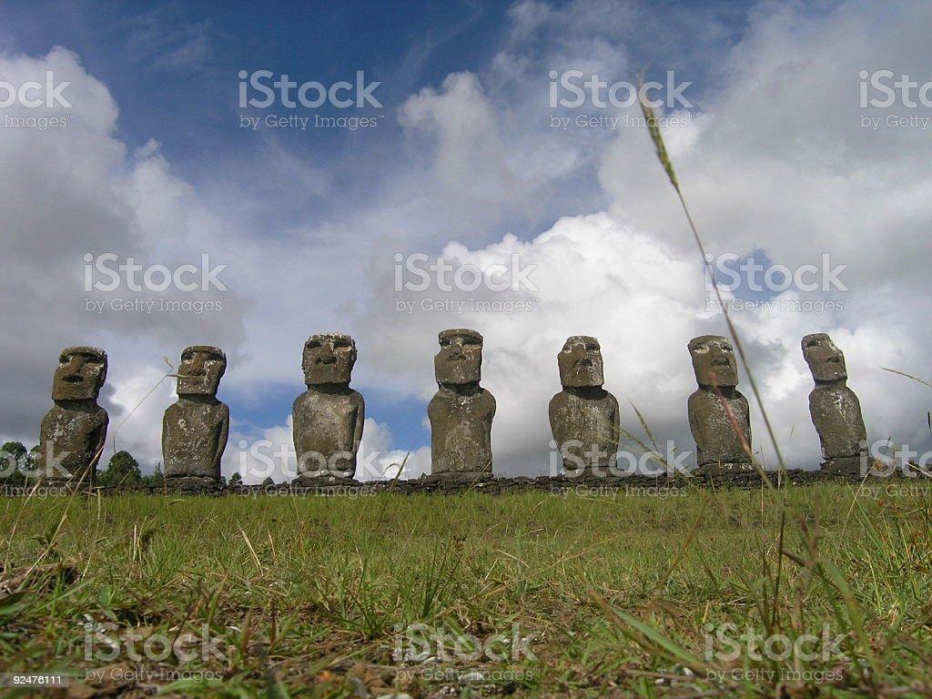 Easter Island - Ahu Akivi royalty-free stock photo