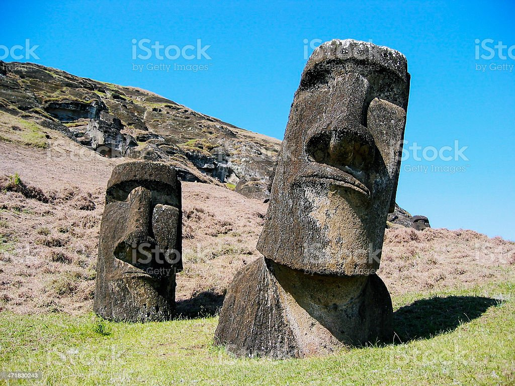 Easter Island Maoi royalty-free stock photo