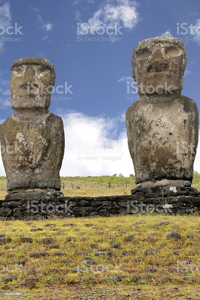 Easter Island Moai royalty-free stock photo