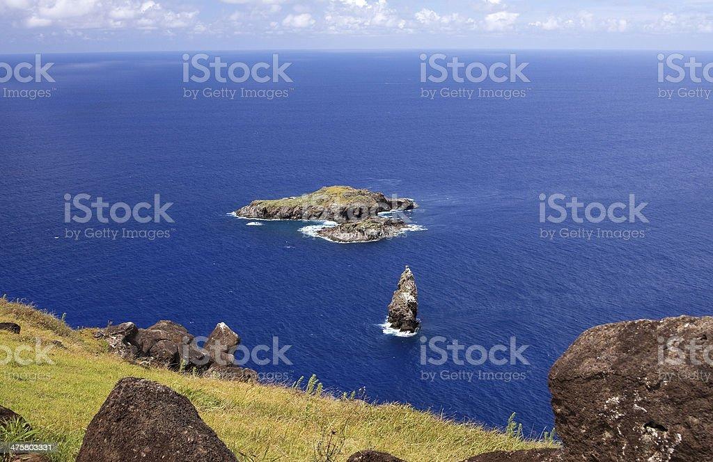 Easter Island. Motus view royalty-free stock photo