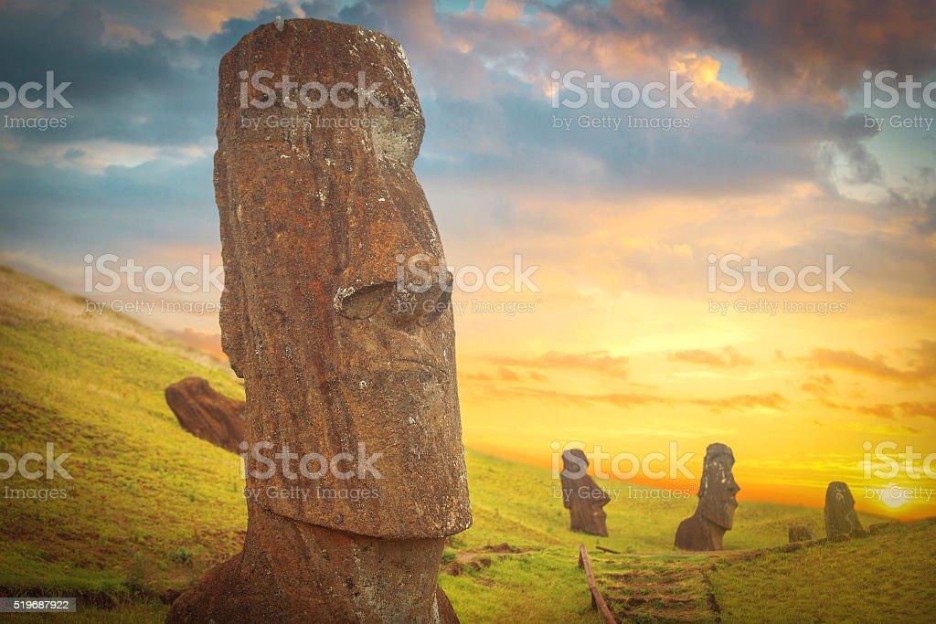 Easter island stock photo