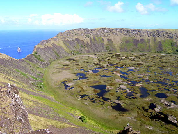 Easter Island - volcano Rano Kau
