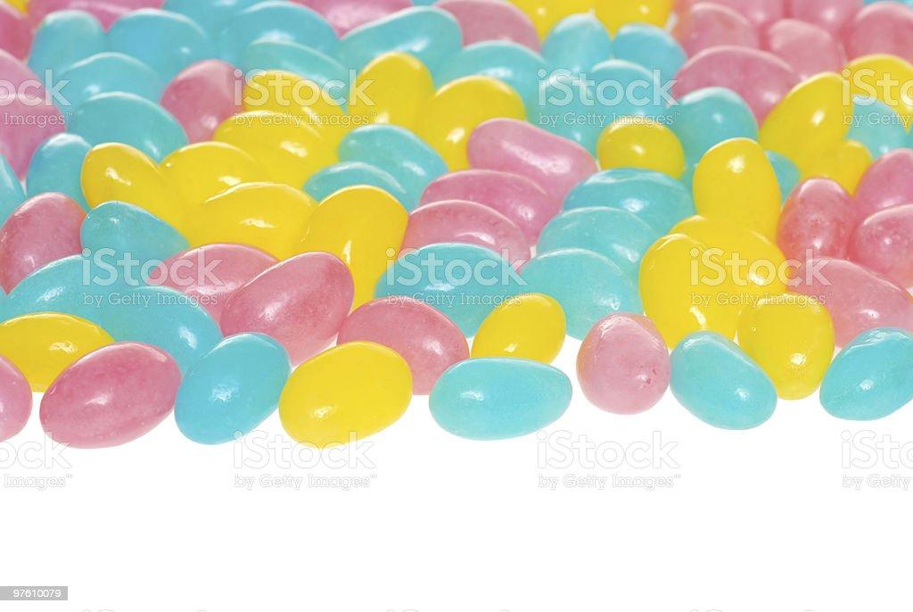 easter jelly beans royaltyfri bildbanksbilder