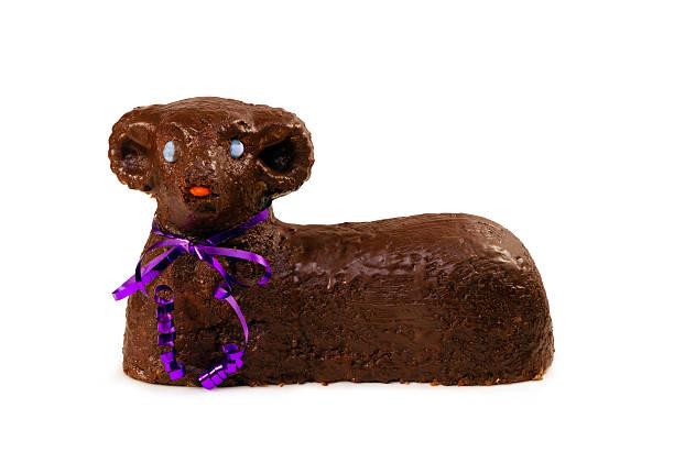 Easter lamb sweet cake stock photo