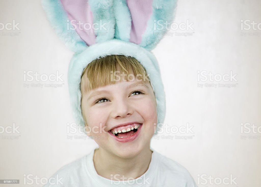 Ostern kleine Kaninchen - Lizenzfrei Farbbild Stock-Foto