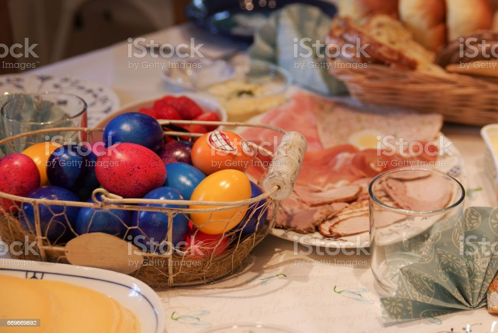 Easter lunch stock photo