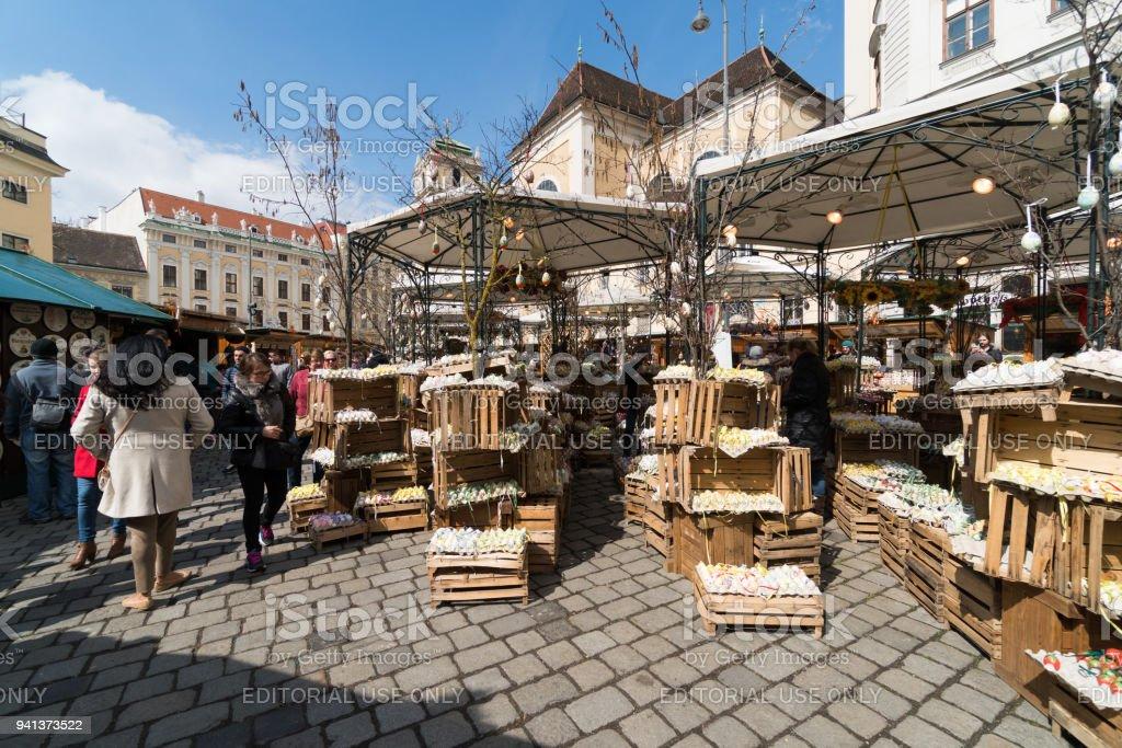 Easter Market Vienna, Freyung stock photo