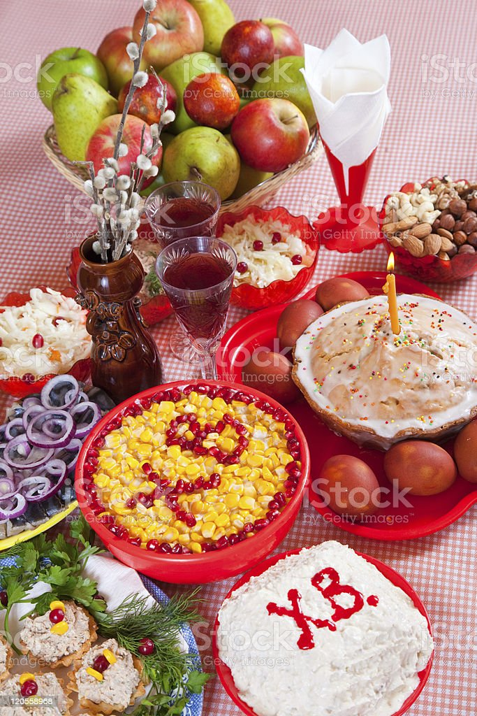 Easter meal royalty-free stock photo