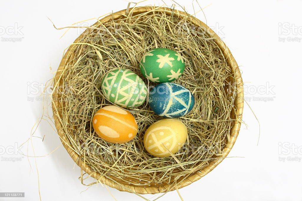 Easter Nest on white royalty-free stock photo