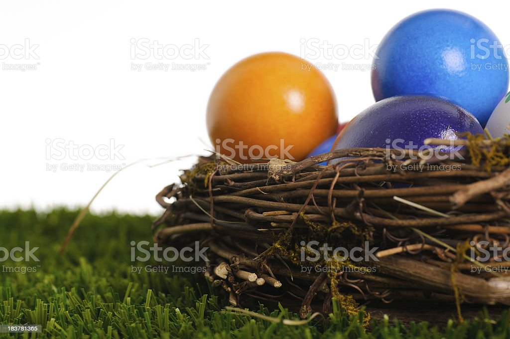 Easter nest royalty-free stock photo