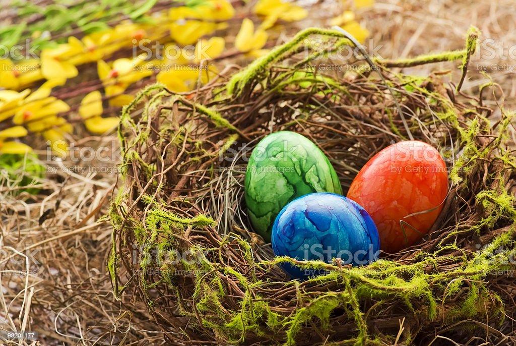 Nido di Pasqua foto stock royalty-free