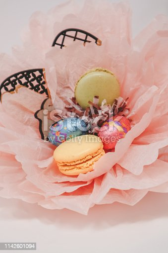 Easter Nest with Macaroons