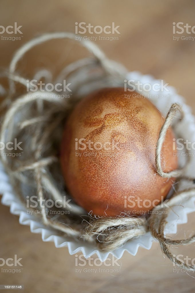Easter, Onion Skin Dyed Egg royalty-free stock photo