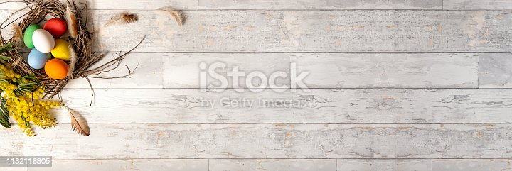 922843504 istock photo Easter panoramic banner 1132116805