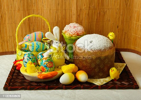 1131445181istockphoto Easter, pastries on the table. 1132830809