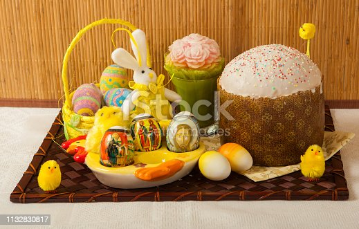 1131445181istockphoto Easter, pastries on the table. 1132830817