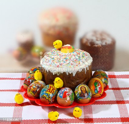 1131445181istockphoto Easter, pastries on the table. 1132830827