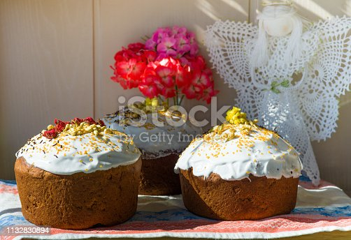 1131445181istockphoto Easter, pastries on the table. 1132830894