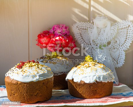 1131445181istockphoto Easter, pastries on the table. 1132830901