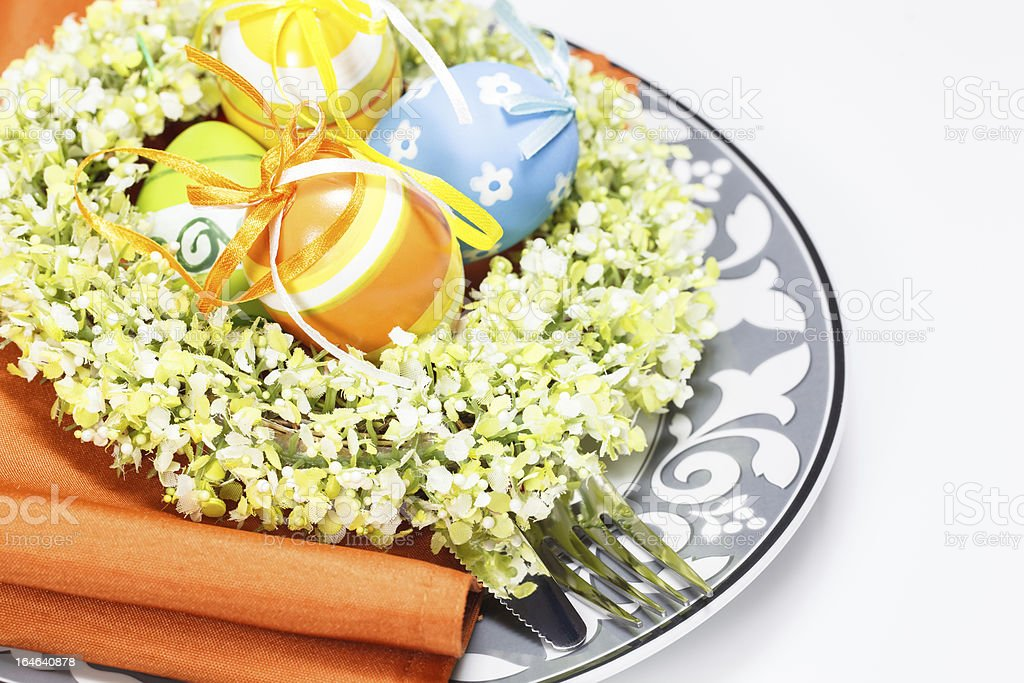 Easter place seting royalty-free stock photo