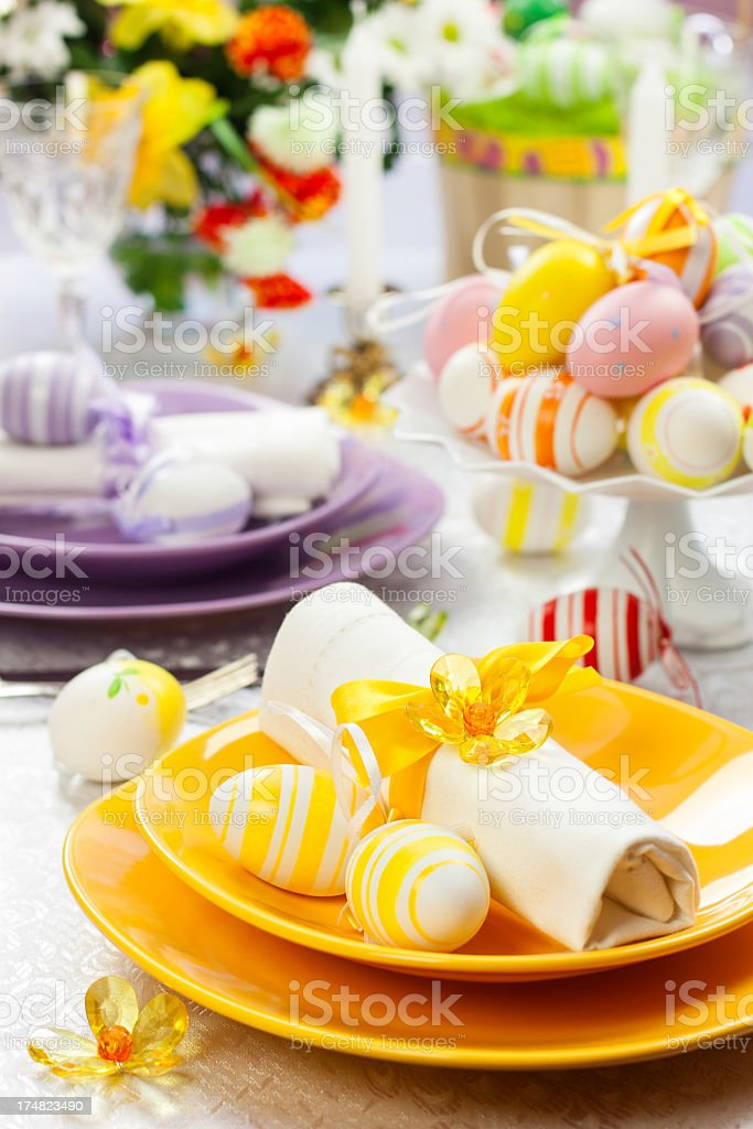 Easter Place Setting royalty-free stock photo