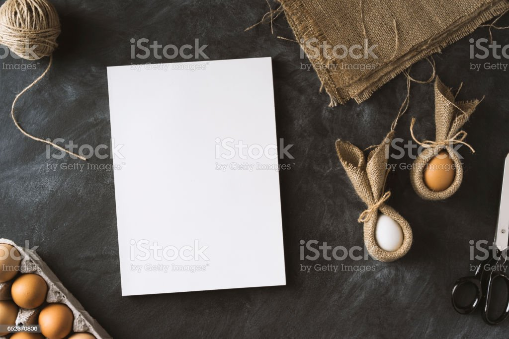 Easter preparations stock photo