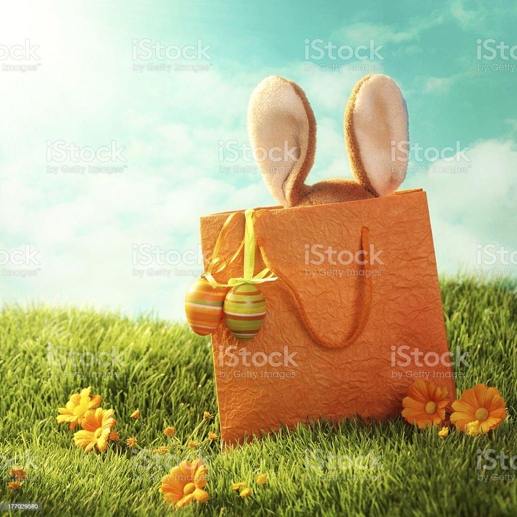 Easter present stock photo