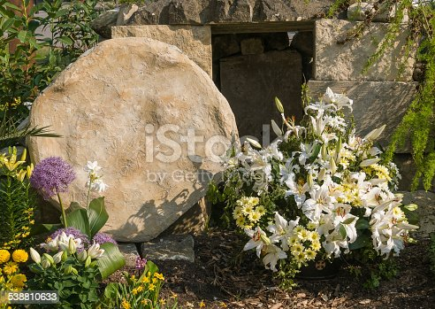 Recreation of the open tomb after Jesus's resurrection