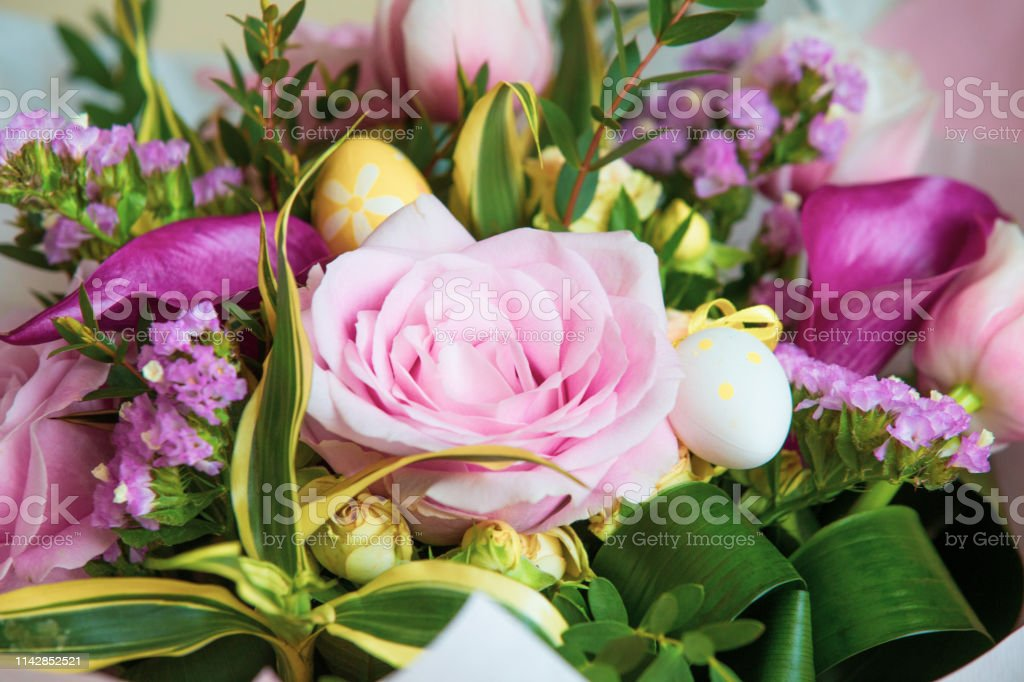 Easter rustic flowers bouquet