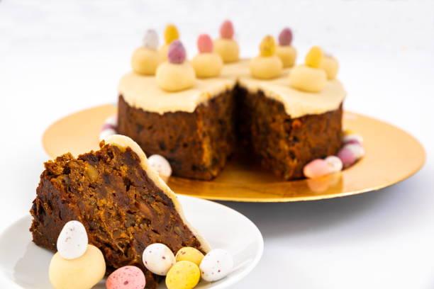 Easter Simnel Cake. stock photo