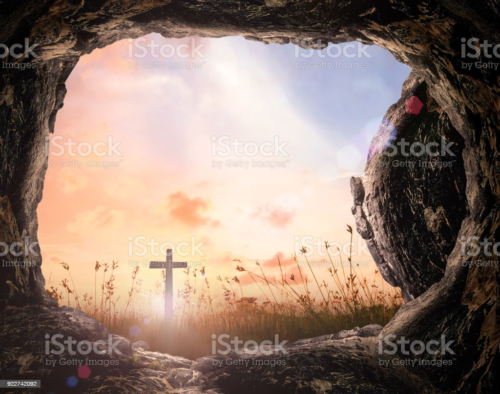 Easter Sunday concept stock photo