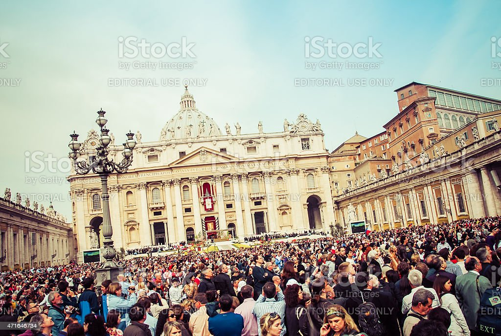 Easter Sunday - Rome, Italy stock photo