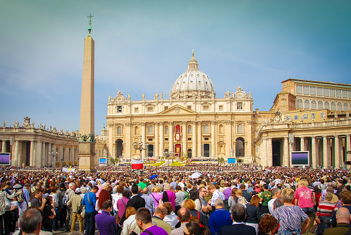 Easter Sunday Rome Italy Stock Photo - Download Image Now