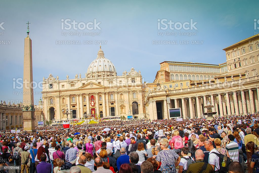 Domenica di Pasqua-Roma, Italia - Foto stock royalty-free di 2015