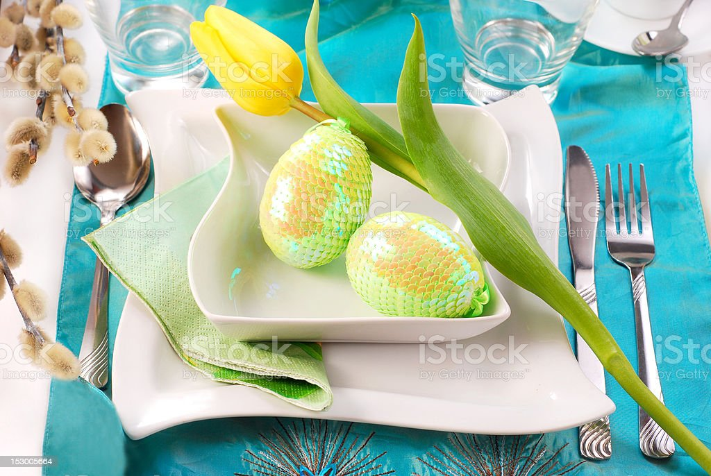 easter table royalty-free stock photo