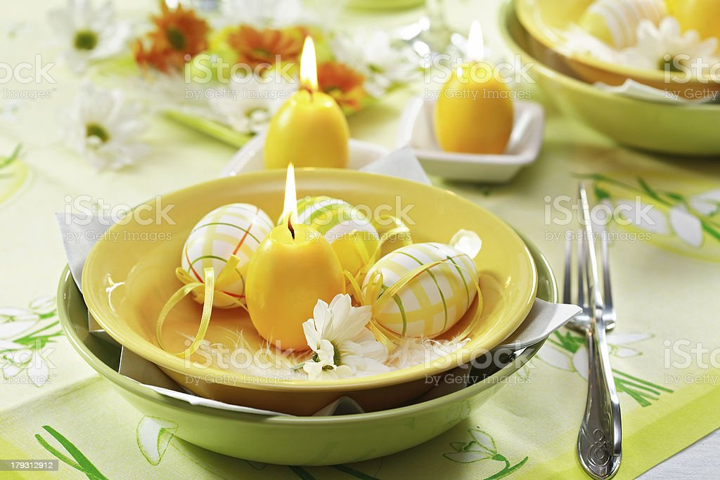 Easter table setting royalty-free stock photo