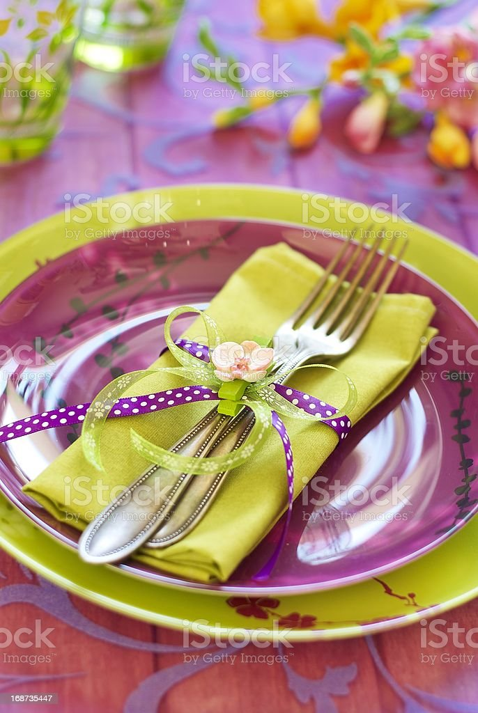 Easter tableware royalty-free stock photo