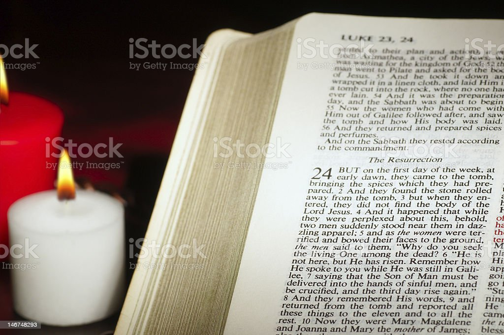 Easter text Luke royalty-free stock photo