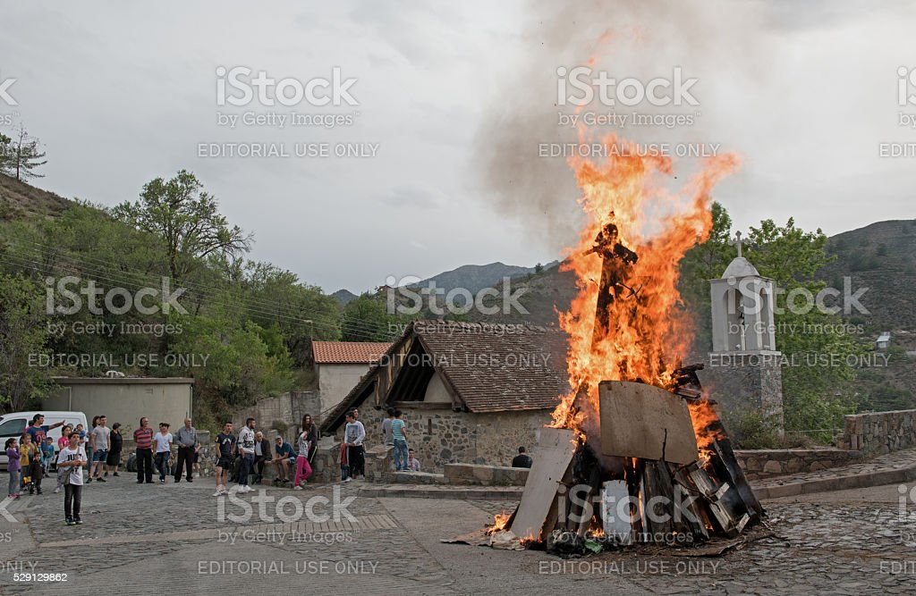 Easter traditional celebrations Cyprus stock photo
