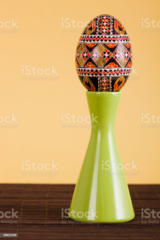 Easter traditional painted egg royalty-free stock photo