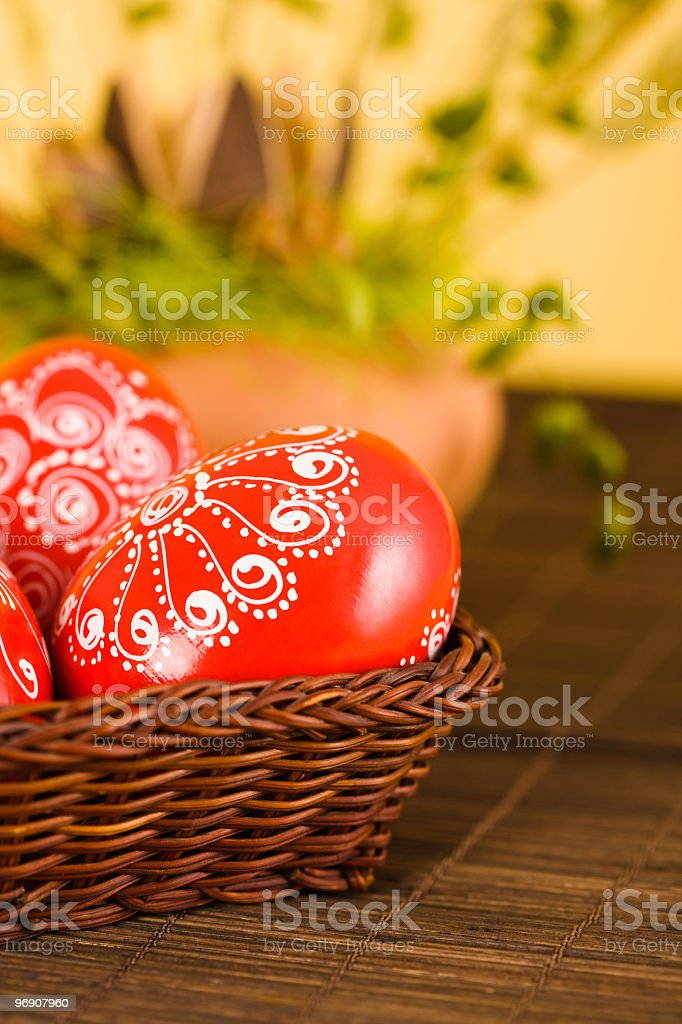 Easter traditional painted eggs royalty-free stock photo